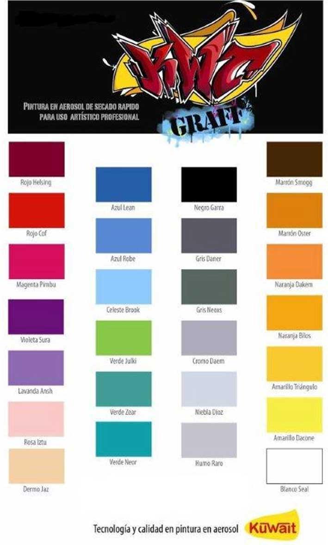 06 kuwait pinturas for Tabla de colores pintura interior